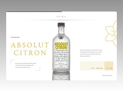 Wine Landing Page typography ui concept amazing ux design minimal
