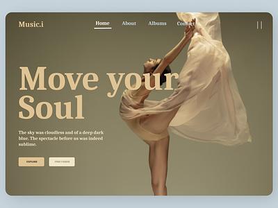 Music Landing Page Concept ui concept amazing ux design minimal