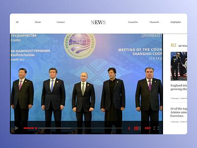 News Landing Page concept ux design minimal