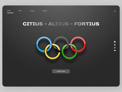 Sports Web Design landingpage typography branding concept amazing ux design minimal