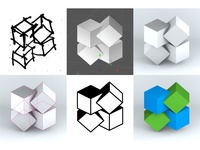 BlockSquared Logo Progression