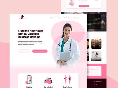 Woman Medical Health Care Landing Page landing page design counseling medical health woman pink landing page exploration website ux ui design concept