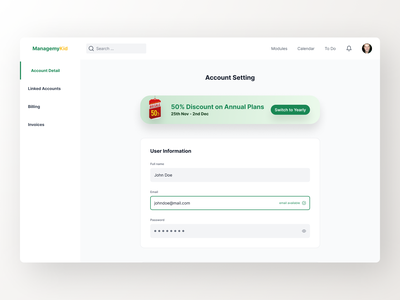 Dashboard - Form design exploration green input dashboard form clean website minimal exploration ux ui concept design
