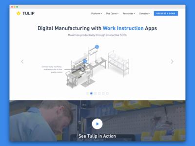 Tulip Website - Homepage