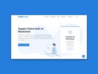 Eximchain Website - Homepage