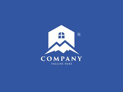 Mountain Real Estate Logo house logo logo home logo construction real estate