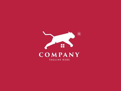 Tiger Home Logo building logo real estate house logo home logo construction