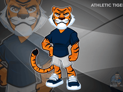 Athletic Tiger illustration brandidentity design vector brand aid characterdesign character creation illustration agency mascot design mascot character charactedesign character concept mascot character art