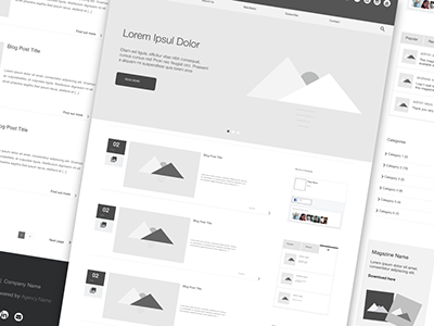 Blog Wireframe Concept
