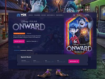VOX Cinemas | Website redesign ticket booking cinema booking uae illustration design usability ui app ux