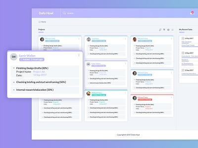 Daily Howl-Task Management Dashboard interface user clean app ux ui task task managment dashboard