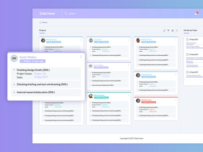 Daily Howl-Task Management Dashboard