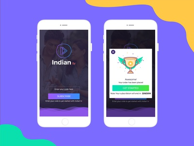 Live Streaming TV Application ui ux app streaming iphone tv