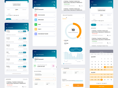 New Mobile Banking App blue clean ui modern design ui ux banking app mobile