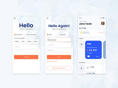 Mobile Banking App banking bank app usability illustration app design mobile app ux ui