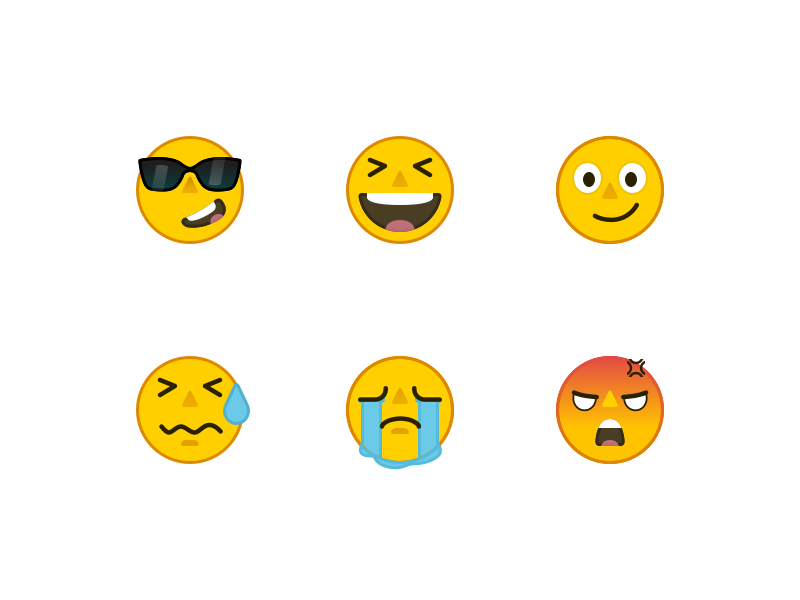 Emoji yellow emoji ios graphics expression face