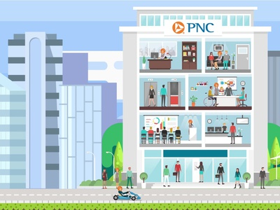 PNC Tutorial Video Artwork animation illustration