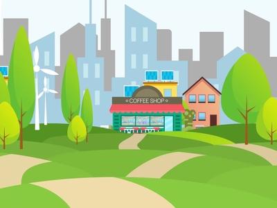 Background scene illustration animation
