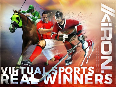 Virtual Sports Ad branding design