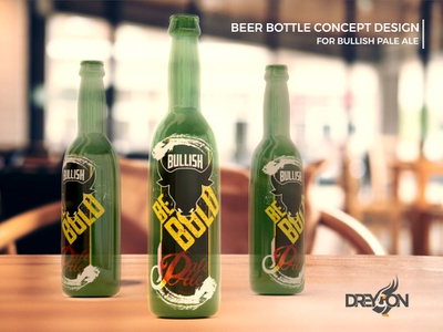 Bullish Bottle Idea type logo branding design illustration