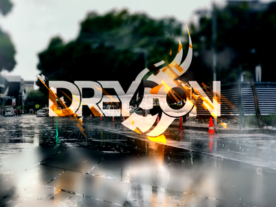 Dreygon Glitch Scene typography logo design