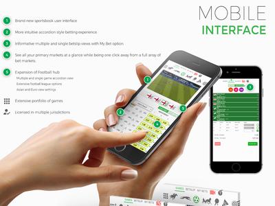 Betman 3.0 Mobile Section flat mobile ui ux design