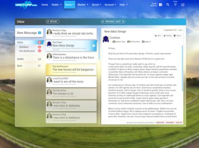Inbox Layout design ux ui layout webdesign inbox email