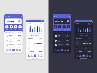 Exploration - Finance App Light & Dark Mode design ux app ui