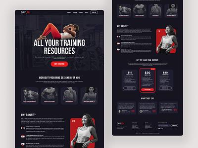 Exploration - Fitness Landing Page Website (DAYLFit) app web landing page ui design