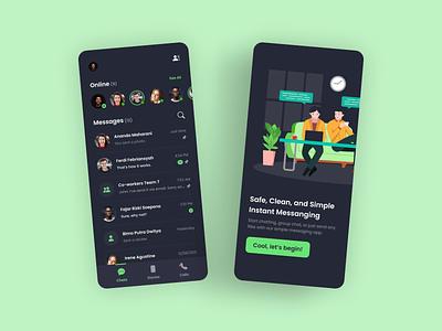 SChat - Simple Messaging App minimalist simple clean messaging uiux app ux ui design