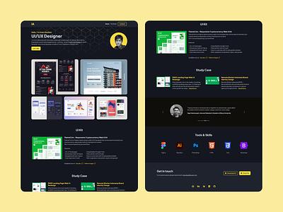 Personal Portfolio Website personal website portfolio html css visual studio code github landing page web ui design