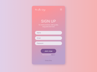 Sign up form for #dailyui challenge ux ux designer ui design webdesign dailyuichallenge uiux ui dailyui 001 dailyui