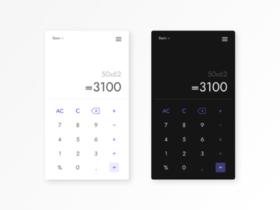Calculator UI design uidesign calculator uiux day 5 ui challenge ui challenge uichallenge daily ui dailyui