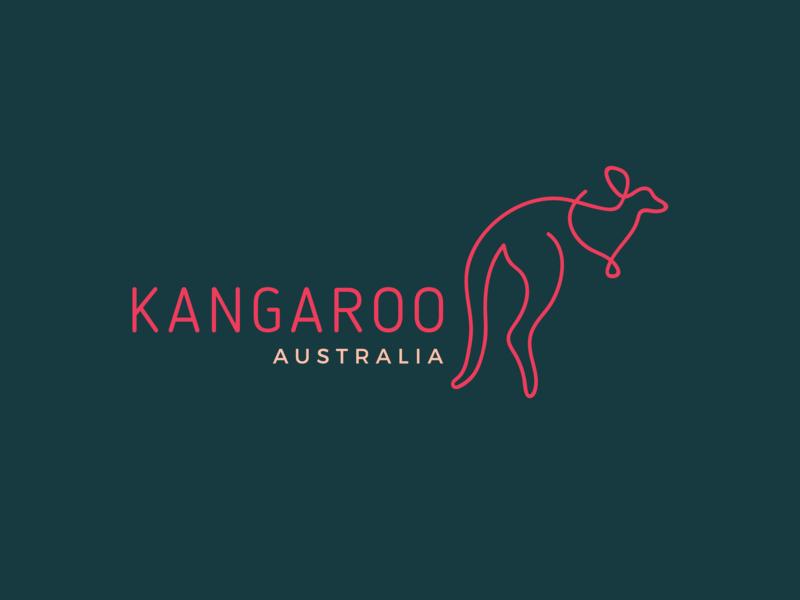Day 19/50 #dailylogochallenge Kangaroo Logo kangaroo monoline logo monoline dailylogochallange dailylogo icon vector logo design graphic design