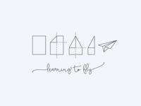 Day 26/50 #dailylogochallenge Paper Airplane logo