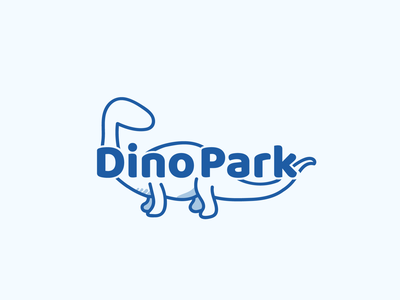 Day 35/50 #dailylogochallenge Dino Park branding logotype logochallenge illustrator dailylogochallange vector art photoshop illustration logomark icon blue logo kids logo vector logo design graphic design