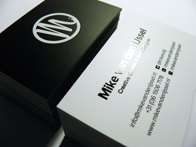 Glossy lamination business card by mike van den ijssel dribbble glossy lamination business card reheart Gallery