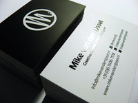 Glossy lamination business card