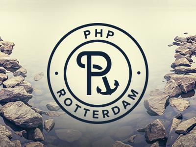 PHP Rotterdam Logo logo identity sea stone rotterdam city corporate design brown water aqua p r php boat sailor ship shipper anchor