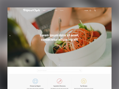 Tropical Chefs homepage homepage web website landing tropical chefs recipes site page image ui webdesign