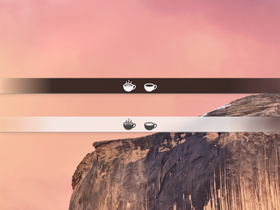 Caffeine Menu Bar Icon Freebie caffeine menu bar icons icon yosemite retina osx mac app freebie