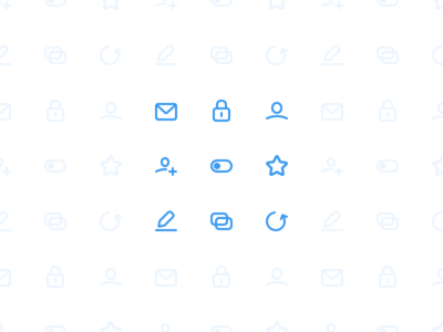 Icons reload slave edit star app switch user password lock envelope mail icons
