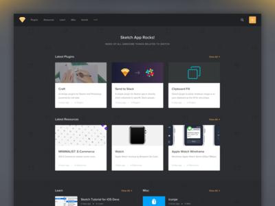 Sketch App Rocks tutorials website articles plugins app resources gem sketch