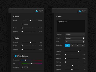 GoPro Studio Inspector video ui studio macos mac inspector interface gopro editor dark concept app