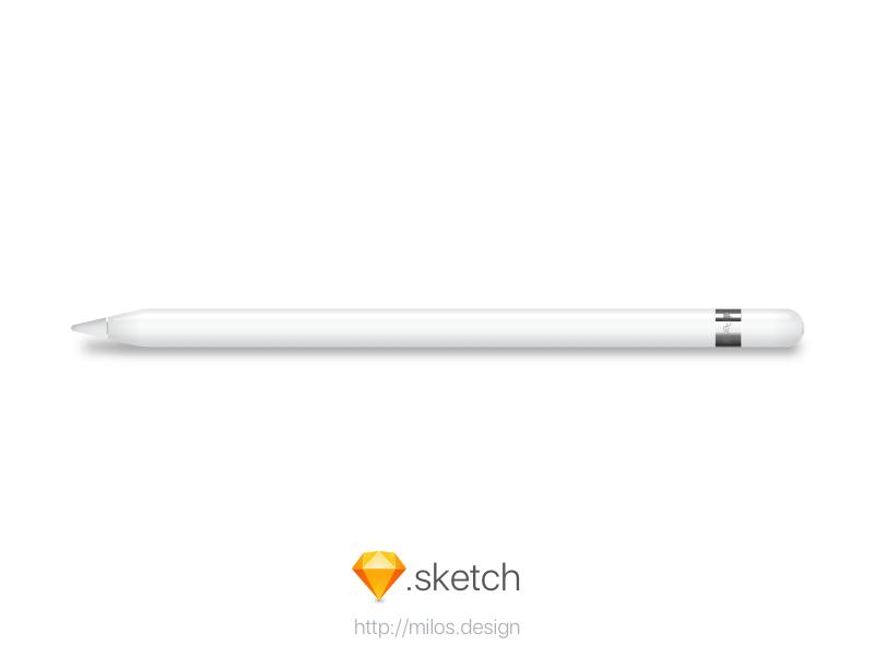 Apple Pencil [.sketch freebie] vector sketch ipad free freebie pencil apple
