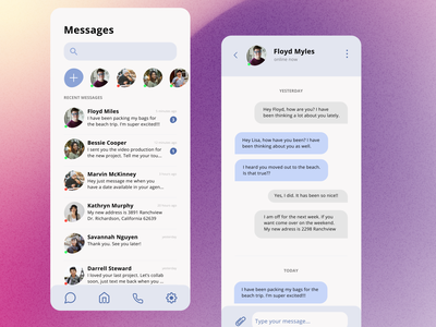 Daily UI 013 Direct Messaging direct messaging daily ui 013 app design ui design daily ui dailyuichallenge dailyui daily 100 challenge