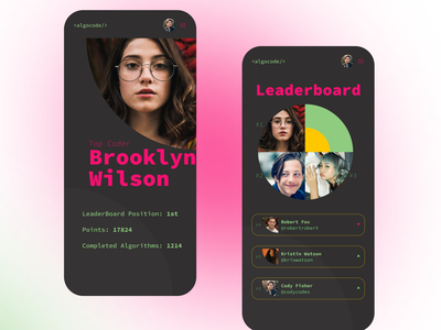 Leaderboard code algorithm code app daily ui 019 ui design app design daily ui dailyuichallenge dailyui daily 100 challenge