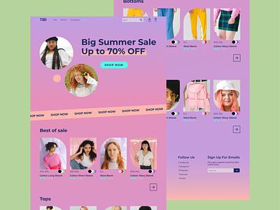 TiBi e-commerce teen concept webdesign web design gradient clothing pink ecommerce e-commerce