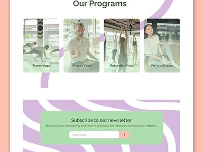 Yoga Studio Website uiux ux ui branding pastel colors small business website small business studio wellness yoga studio web web design yoga