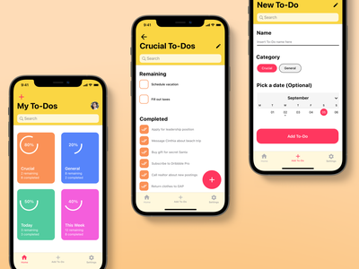 To-Do App human interfaces iphone to-do to-do app todo daily ui challenge 042 daily ui 042 daily 042 042 minimal app ux flat app design daily ui dailyuichallenge dailyui daily 100 challenge design ui